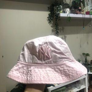 cutest little baby pink bucket hat!!